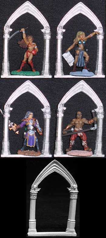 Gothic Archway (Christmas Ornament / Figure Display), 02703_Christmas Reaper Miniatures, Inc.
