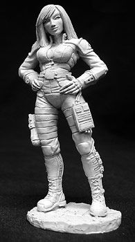 Dana Murphy, CAV Officer, 72mm, 1407 Reaper Miniatures, Inc.