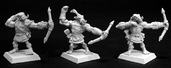 Bull Orc Archers (3) (Discontinued), 14074_OverStock Reaper Miniatures, Inc.