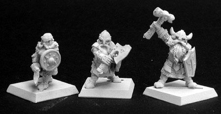 Dwarf Warriors (3) (Discontinued), 14112 Reaper Miniatures, Inc.