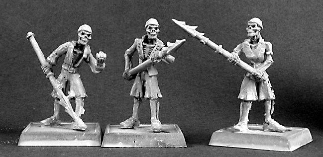 1 x harpooner skeleton-warlords reaper miniature d/&d rpg rpg skeleton 14402c