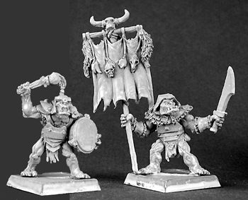 Reven Standard and Musician (2) (Discontinued), 14292 Reaper Miniatures, Inc.