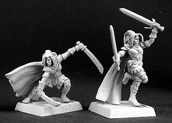 miniature giant warlord reaper minis stock 14300s shadow sisters female rangers. Black Bedroom Furniture Sets. Home Design Ideas