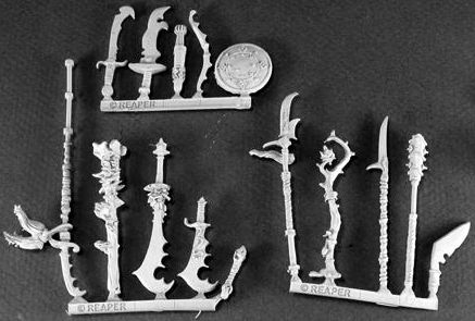 Reptus Weapons Pack (15) (OOP), 14449 Reaper Miniatures, Inc.
