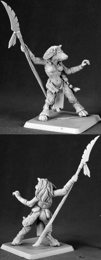 Kashia, Ghostmane Tribe Lupine Mother, 14593 Reaper Miniatures, Inc.