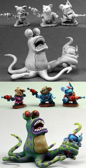 Space Mouslings: Terror on Planet X (4) (Limited Edition, Discontinued), 1517 Reaper Miniatures, Inc.