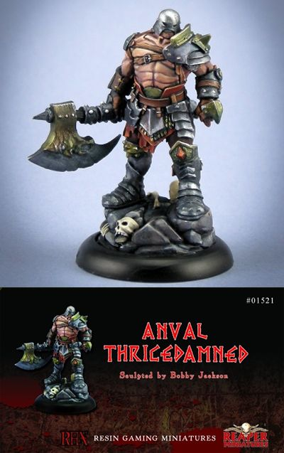 Anvall Thricedamned, Evil Warlord (resin) (Numbered Limited Edition, Discontinued), 1521 Reaper Miniatures, Inc.