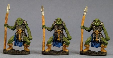 Orc Spearmen (3), 20009 Reaper Miniatures, Inc.