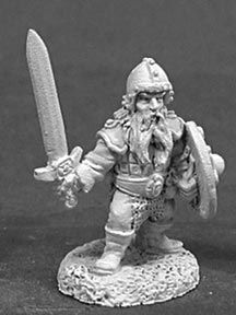 Dwarf w/Swords (5 of 2052) (Discontinued), DHA5004 Reaper Miniatures, Inc.