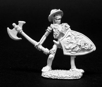 Skeleton w/Axes (5 of 2128) (Discontinued), DHA5008 Reaper Miniatures, Inc.