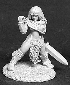 Lorna the Huntress, Female Barbarian, 2476 Reaper Miniatures, Inc.