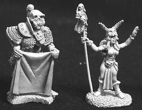 Female Sorceress and Skeletal Servant (2) (OOP), 2553 Reaper Miniatures, Inc.