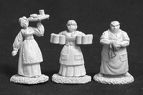 Townsfolk 1 (Bartender, 2 Wenches) (3), 2583 Reaper Miniatures, Inc.