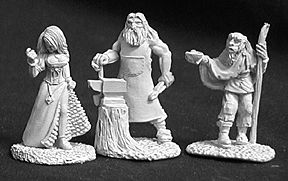 Townsfolk 2 (Beggar Strumpet, Blacksmith) (3), 2584 Reaper Miniatures, Inc.