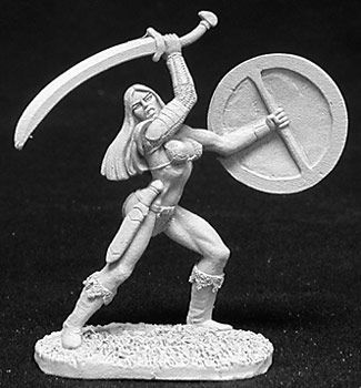 Melorian, Female Fighter (OOP), 2698 Reaper Miniatures, Inc.