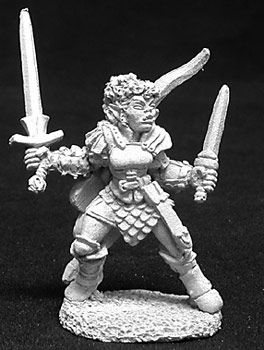 Janara, Female Half Orc Fighter (OOP), 2708 Reaper Miniatures, Inc.