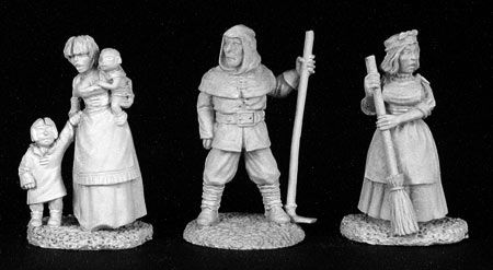 Townsfolk V, Commoners (3), 2825 Reaper Miniatures, Inc.