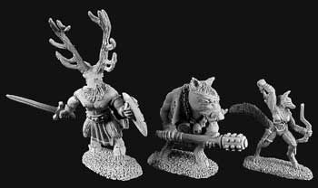 Beastmen of the Wyld (3) (OOP), 2900 Reaper Miniatures, Inc.