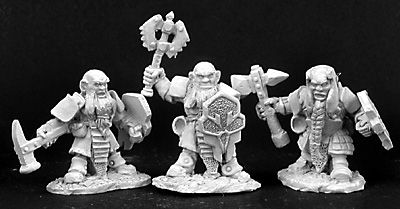 Duergar Sergeant and Grunts (3) (OOP), 2989 Reaper Miniatures, Inc.