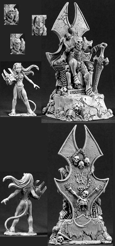 Dragoth the Defiler, Undead Lord on Throne (Discontinued), 30010 Reaper Miniatures, Inc.