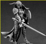 Finari, Female Justicar Crusader (54mm) (Discontinued)