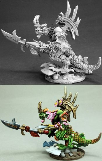 Khong To, Reptus Warlord (54mm) (Discontinued), 30015 Reaper Miniatures, Inc.