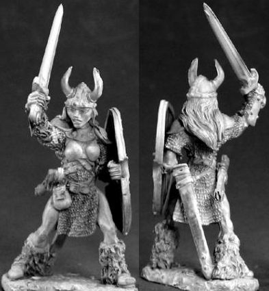 Ingrid, Female Viking Warrior (OOP), 3384 Reaper Miniatures, Inc.