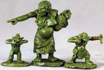 Dungeon Tribes: Orc Matron and Brood (OOP), 3511 Reaper Miniatures, Inc.