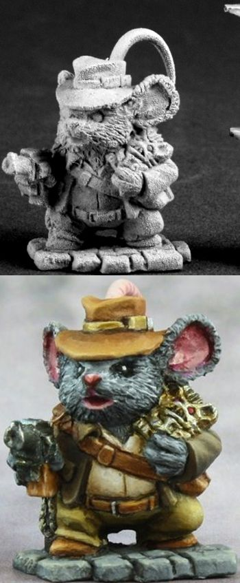 Asiago Jones, Adventurer Mouseling, 3577 Reaper Miniatures, Inc.