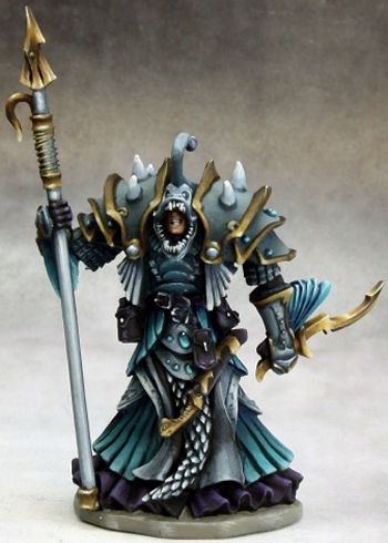 Eregris Darkfathom, Evil High Sea Priest, 3614 Reaper Miniatures, Inc.