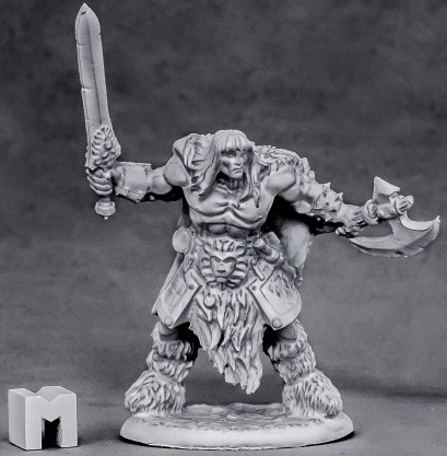 Ankoa, Barbarian Hero, 3869 Reaper Miniatures, Inc.