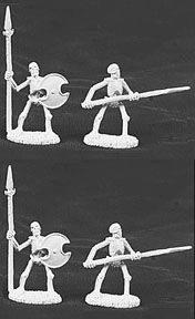 Skeletons, with spears (5) (OOP), 6006 Reaper Miniatures, Inc.