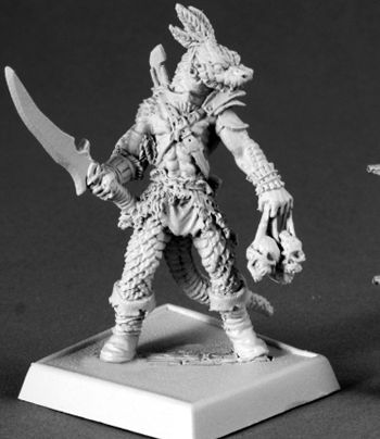 Serpentfolk Warrior, 60074 Reaper Miniatures, Inc.