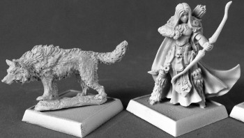Adowyn & Leryn (Iconic Hunter & Wolf), 60181 Reaper Miniatures, Inc.