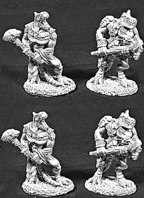 Lizardmen with two handed Clubs (4) (OOP), 6048 Reaper Miniatures, Inc.