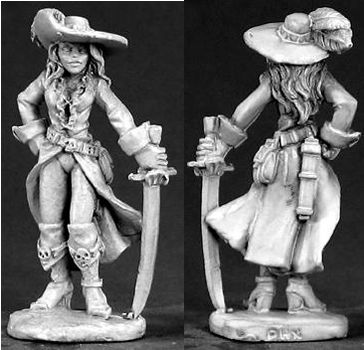Melisande Wavecutter, Female Pirate (Discontinued), 65003 Reaper Miniatures, Inc.