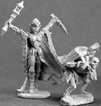 Nathrae, Dark Elf Cleric (and minion) (2) (OOP) (Discontinued)