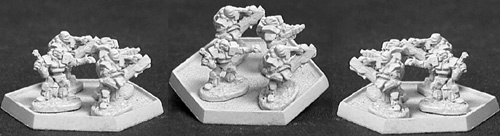 Heavy Infrantry w/light mortar (12) (OOP), 7061 Reaper Miniatures, Inc.