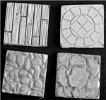 "1"" Square Scenic Bases (4) (Discontinued)"