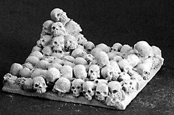 40mm Square Skull Bases (2) (Discontinued), 74022 Reaper Miniatures, Inc.