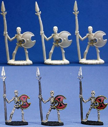 Skeletal Spearmen (3), 77001 Reaper Miniatures, Inc.