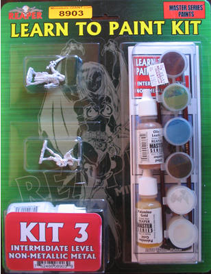 Learn to Paint Kit 3 - Non Metallic Metals (Discontinued), 8903 Reaper Miniatures, Inc.
