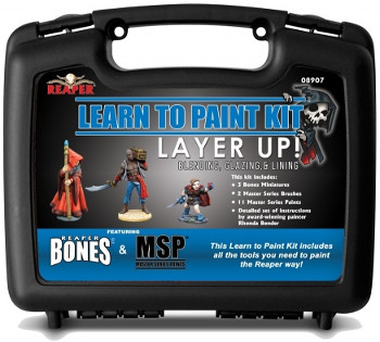 Reaper BONES Learn to Paint Kit:  Layer Up! Base Coats, Layering, and Glazing, 8907 Reaper Miniatures, Inc.