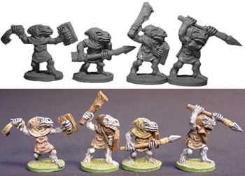 Trollkin Fighters (4) (Discontinued), HQ3013_OverStock Lance & Laser