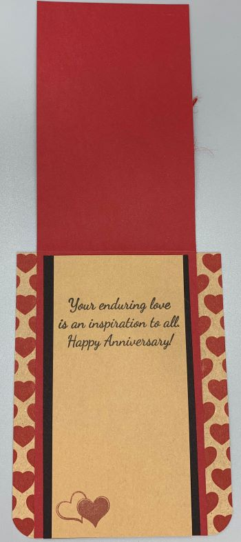 Happy Anniversary, Heart Print Love, Laura-Anniv-102-CO Cards by Laura