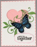 Happy Anniversary, Quilted Heart w/Butterfly