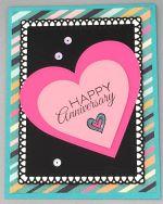 Anniversary, Teal Stripe