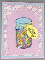 Happy Anniversary,  Jar of Candy Hearts