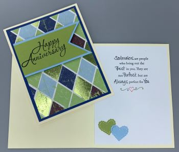 Happy Anniversary, Argyle, Laura-Anniv-M100 Cards by Laura