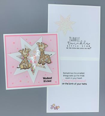 Baby Star-Twin Girls, Shaker, Laura-Baby-107-Sh Cards by Laura